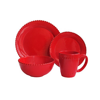 Bianca Red Bead 16-pc. Dinnerware Set