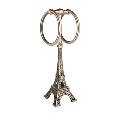 Bronze Eiffel Tower Towel Holder
