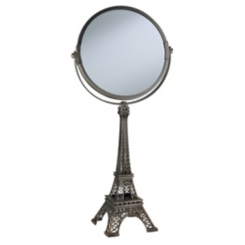 Bronze Eiffel Tower Magnifying Mirror