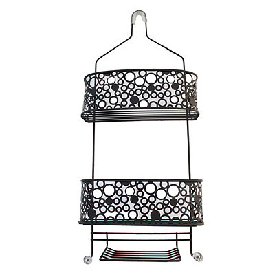 Black Bubbles Shower Caddy