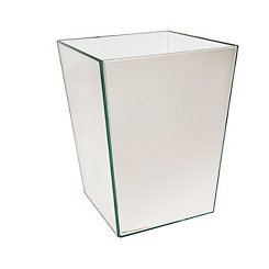 Crystal Mirror Waste Basket