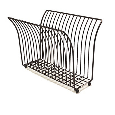 Bronze Metal Magazine Rack