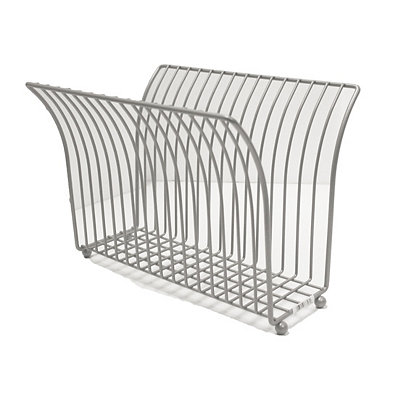 Chrome Metal Magazine Rack