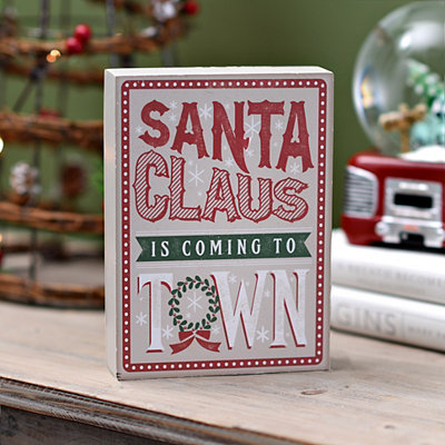 Santa's Coming to Town Word Block
