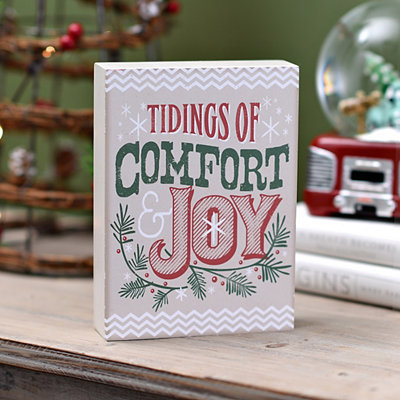 Tidings of Comfort and Joy Word Block