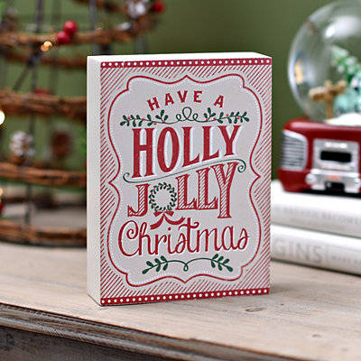 Holly Jolly Christmas Word Block