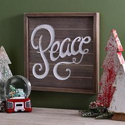 Peace Wooden Plaque