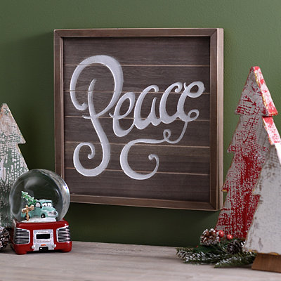 Peace Wooden Plaque