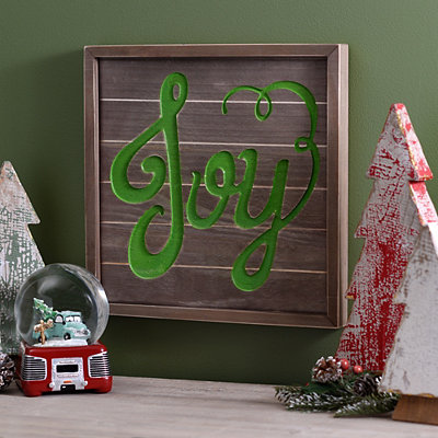 Joy Wooden Plaque