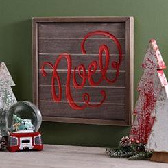 Noel Wooden Plaque