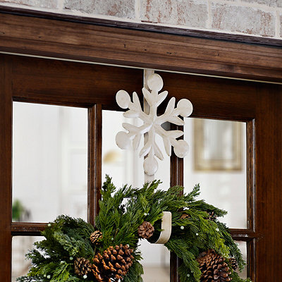 Cream Snowflake Wreath Hanger