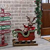 Christmas Wood Sleigh