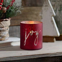 Red Joy Mercury Glass Votive Candle Holder