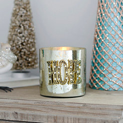 Glamorous Hope Metallic Votive Candle Holder