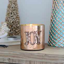 Glamorous Joy Metallic Votive Candle Holder