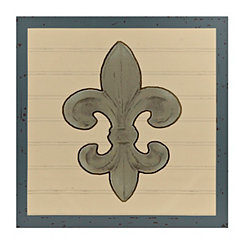 Turquoise and Gold Fleur-de-lis Canvas Art Print
