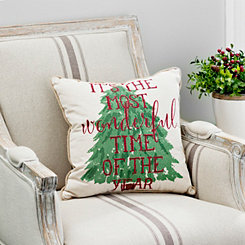 Wonderful Time Of The Year Burlap Pillow