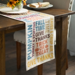 Fall Typography Table Runner