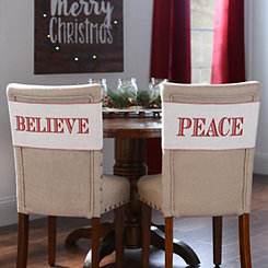Believe and Peace Chair Bands, Set of 2