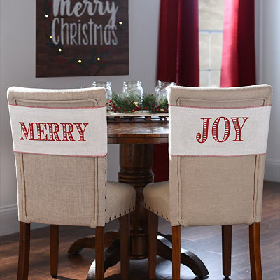 Merry and Joy Chair Bands, Set of 2