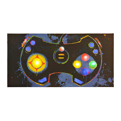 LED Gaming Controller Canvas Art Print