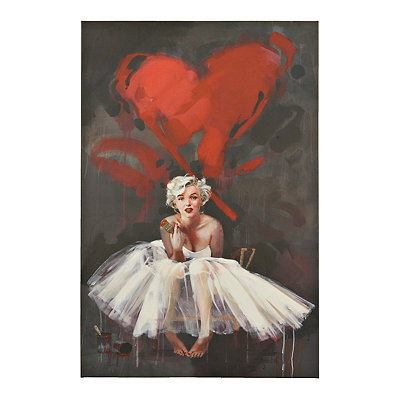 Marilyn Monroe Heart Canvas Art Print