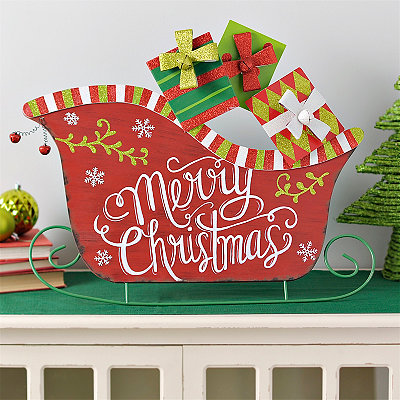Packed Sleigh Metal Easel