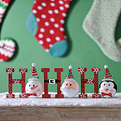 Ho Ho Ho Holiday Character Tabletop Sign