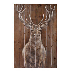 Woodland Majesty Painted Wood Art
