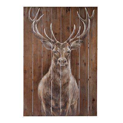 Woodland Majesty Painted Wood Art
