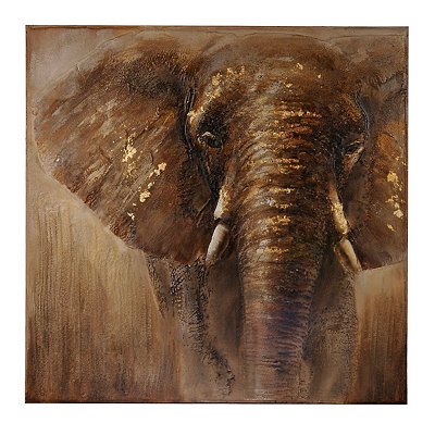 Stoic Elephant Canvas Art Print