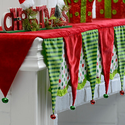 Christmas Bell Mantel Scarf