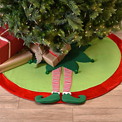 Standing Elf Leg Tree Skirt