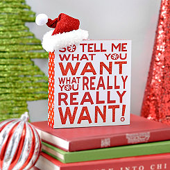 Tell Me What You Want Christmas Word Block