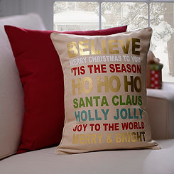Christmas Typography Pillow