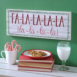 Fa La La La La Christmas Wall Plaque