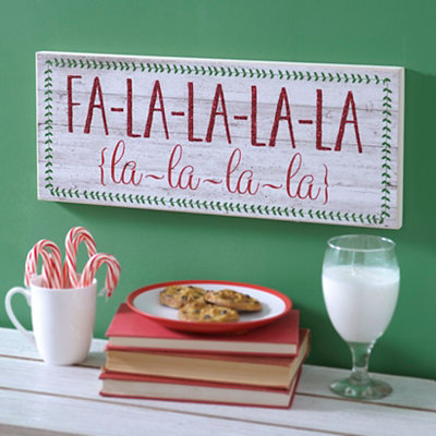 Fa La La La La Christmas Wall Plaque