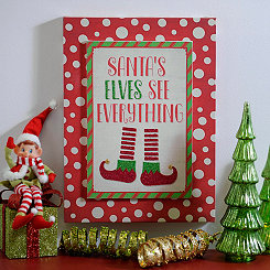 Santa's Elves See Everything Wall Plaque