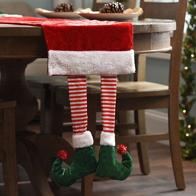 Elf Leg Red Velvet Table Runner