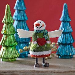 Small Plush Angel Snowgirl Statue