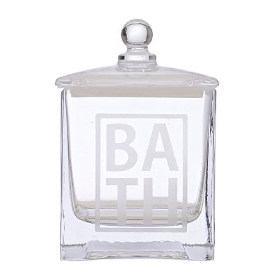 Glass Bath Cotton Ball Jar