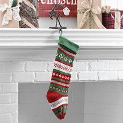 Fair Isle Diamond Stripe Stocking