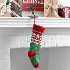 Fair Isle Snowflake Polka Dot Stocking