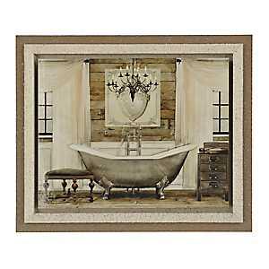 Grand Chrome Bath Framed Art Print