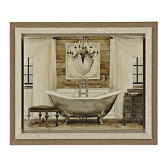 Grand Chrome Bath Framed Art Print