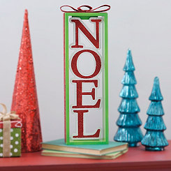Metallic Noel Present Sign