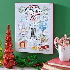 Winter Favorites Wall Plaque