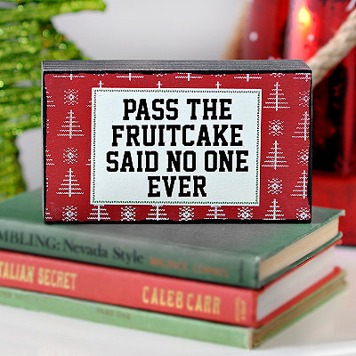 Pass the Fruitcake Word Block
