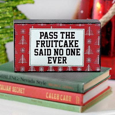 Pass the Fruitcake Word Block