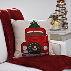 Embroidered Christmas Car Pillow
